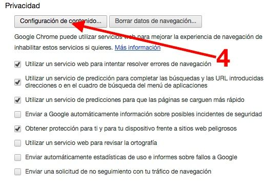 borrar cookies en chrome 1